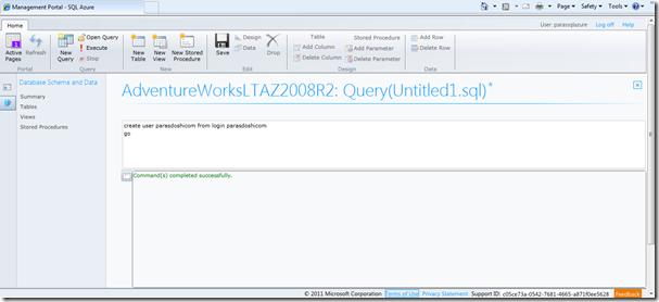 SQL Azure Login pic2
