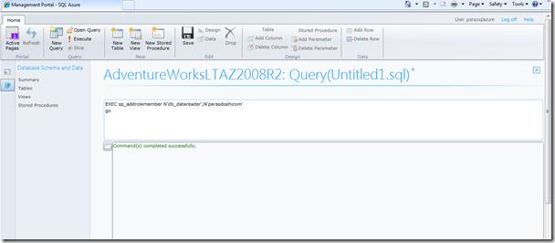 SQL Azure Login pic3