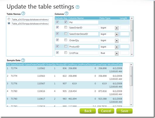 Edit table defaults