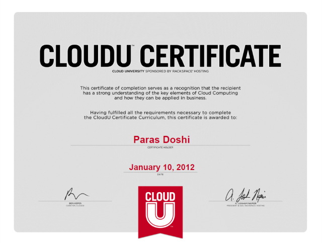 Cloud Computing Certificate