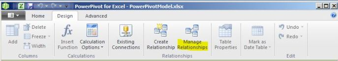 manage relationships powerpivot 2012