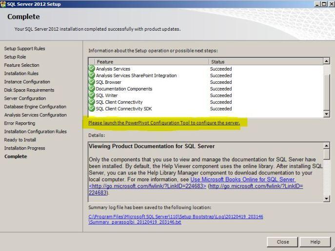 SQL Server PowerPivot For Sharepoint post installation