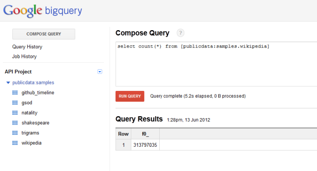bigquery sample data