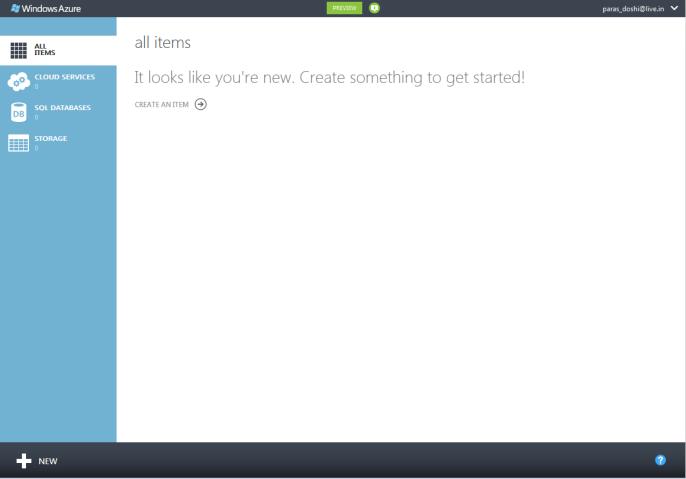 new azure portal html 5