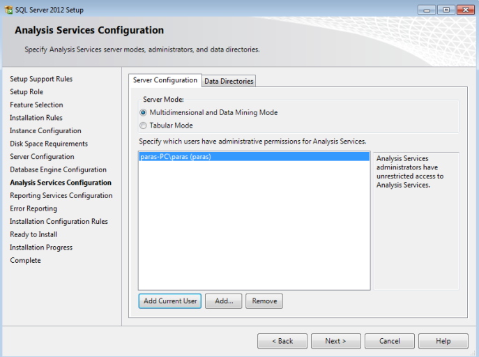 6 step by step install sql server analysis services 2012