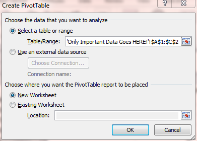 configure pivot table in excel 2010