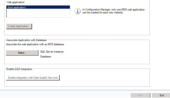 SQL server 2012 master data services MDS assoicate database