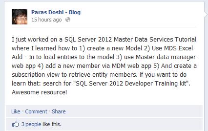MDS SQL Server 2012 master data services tutorial