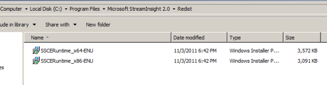 2 stream insight install sql serve compact edition