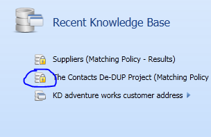 data quality services knowledge base lock