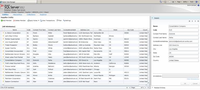 SQL Server 2012 master data services MDS Web UI