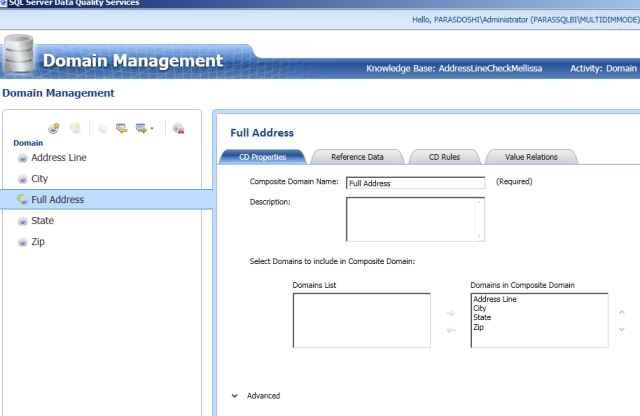1 SQL server 2012 Data Quality Services Domain Management