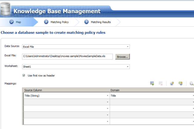 2 Data Quality Services matching policy