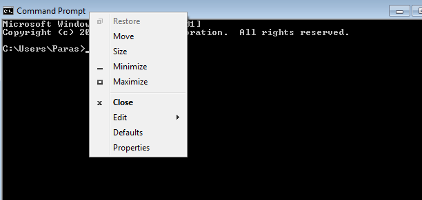 command prompt change font size