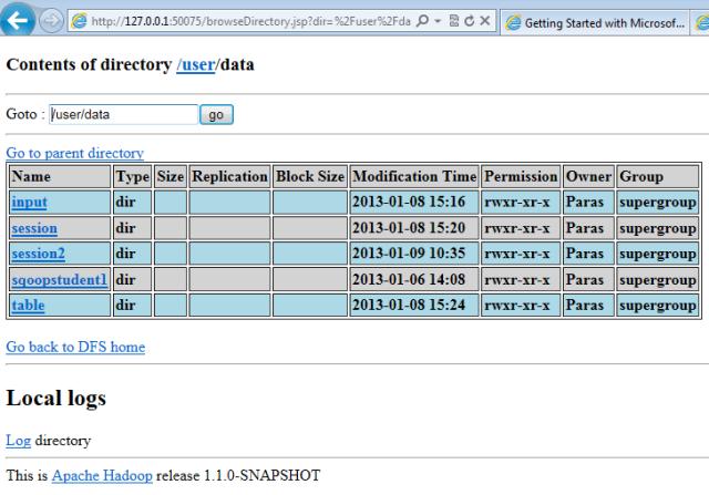 user data hadoop sqoop hive mapreduce