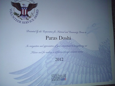 certificate presidents volunteer service award copy