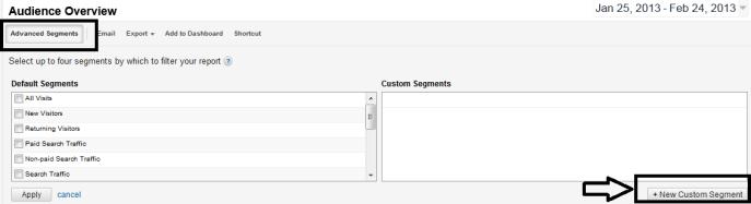 google analytics advance segments