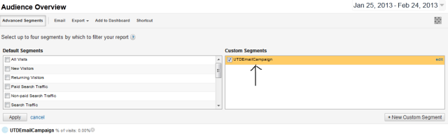 google analytics custom segments traffic