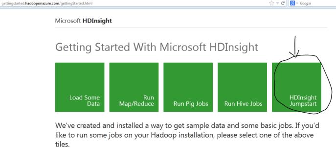 HDInsight hadoop on windows starting guide tutorial