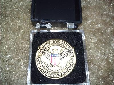 label pin president's volunteer service award copy