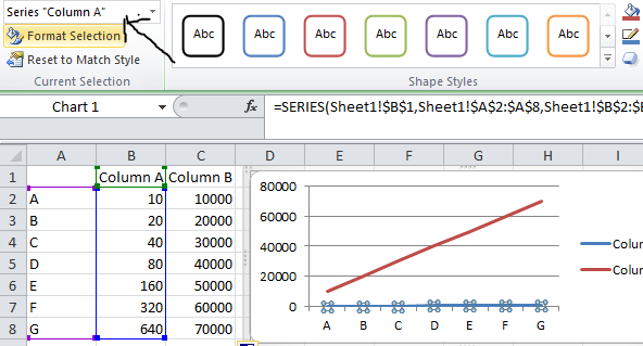 how to add secondary axis in excel 2013