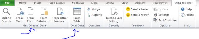 data sources explorer excel