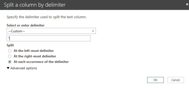 an excel split by delimiter data