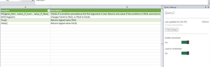 excel data copied from website data explorer