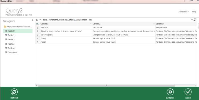 excel data explorer query editor