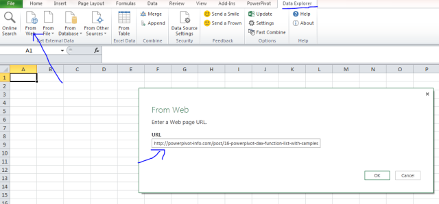 Web Scraping Tables using Excel add-in Data Explorer preview