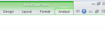 pivot table charts tools