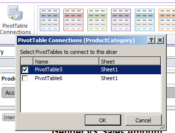 pivot table connections excel