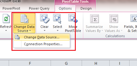 Pivot Table Change Data Source