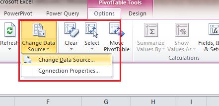 Pivot Table Change Data Source