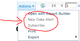 data alert subscribe ssrs sharepoint 2012
