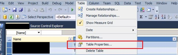 SSAS Tabular model change query