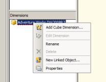 Add Dimensions Cube SSAS