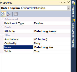 ssas analysis services attribute relantionship properties