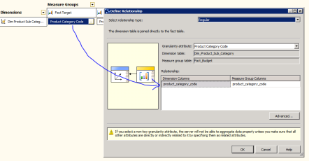 SSAS Relationship Dimension Usage Regular