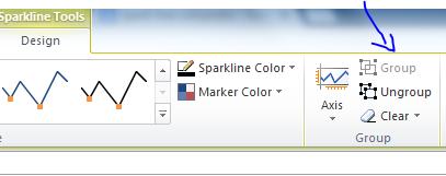Excel Sparkline Group